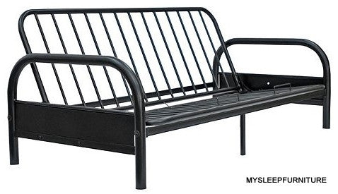 DOUBLE SIZE- (1600 BLACK)- METAL- FUTON FRAME