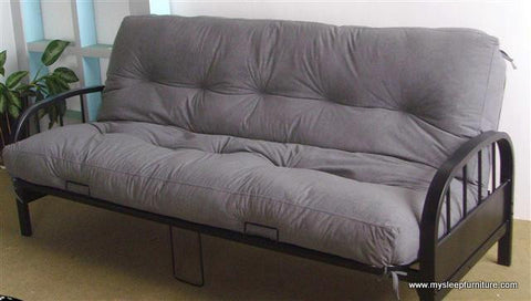 DOUBLE (FULL) SIZE- 211- BLACK COLOR- METAL- FUTON FRAME