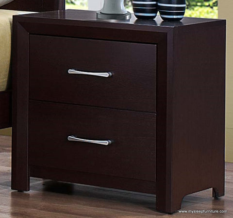 (2145 ESPRESSO- 2)- WOOD- NIGHT STAND
