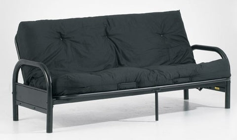 "DOUBLE (FULL) SIZE- BLACK COLOR- 8"" THICK- PROMOTIONAL- FUTON MATTRESS"