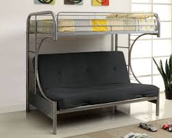 TWIN/ DOUBLE- 230- GREY COLOR- C- SHAPE FUTON- METAL- BUNK BED