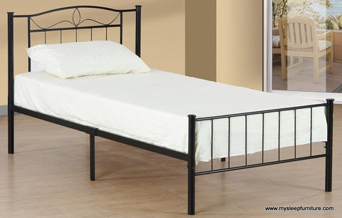 2310- BLACK COLOR- METAL- BED FRAME- TWIN, DOUBLE SIZES