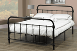 DOUBLE (FULL) SIZE- (2335 BLACK)- METAL- BED FRAME