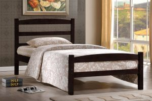 DOUBLE (FULL) SIZE- (2340 ESPRESSO)- WOOD- BED FRAME- WITH SLATS