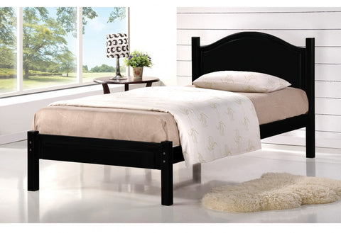 TWIN (SINGLE) SIZE- (2342 ESPRESSO)- WOOD- BED FRAME- WITH SLATS