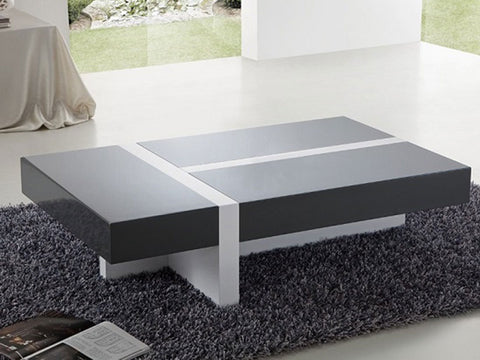 2347- OLIVE- GEOMETRIC DESIGN- COFFEE TABLE