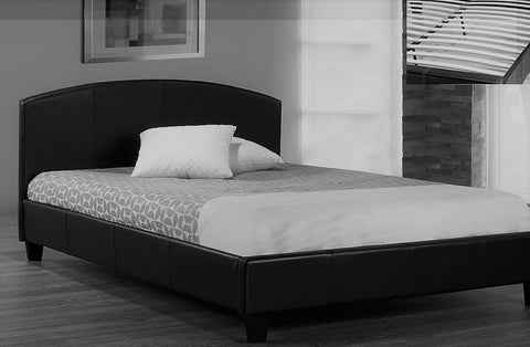TWIN (SINGLE) SIZE- (2350- BLACK)- BED FRAME- WITH SLATS