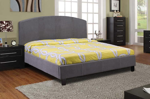 QUEEN SIZE- (2355 GREY)- FABRIC- BED FRAME- WITH SLATS