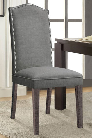 (235 GREY FABRIC- 2 PACK)- DINING CHAIRS
