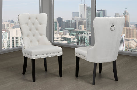 (246 CREAM- 2 PACK)- FABRIC- DINING CHAIRS