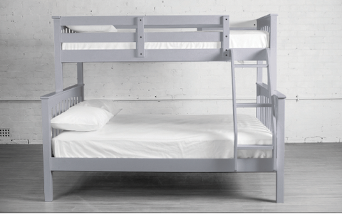 TWIN/ DOUBLE- (2501 GREY)- WOOD- BUNK BED- will be available after OCTOBER 19, 2020