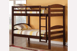 TWIN/ TWIN- (2508 ESPRESSO)- SPLITTABLE- WOOD- BUNK BED
