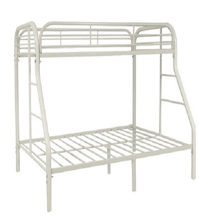 TWIN/ DOUBLE- (2820 WHITE)- METAL- BUNK BED