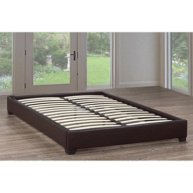 QUEEN SIZE- (IF- 191 BROWN)- LEATHER- BED FRAME- WITH SLATS