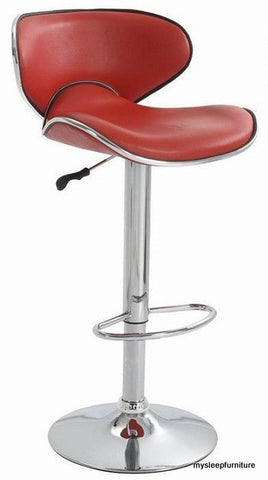 3041- RED COLOR- PU LEATHER- BAR STOOL
