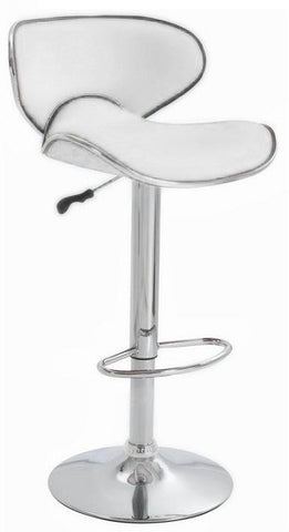 (3041 WHITE)- PU LEATHER- BAR STOOL