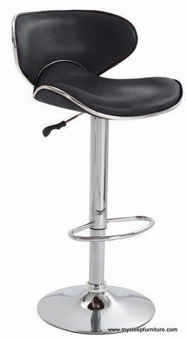 (3041- 7700 BLACK)- PU LEATHER- BAR STOOL