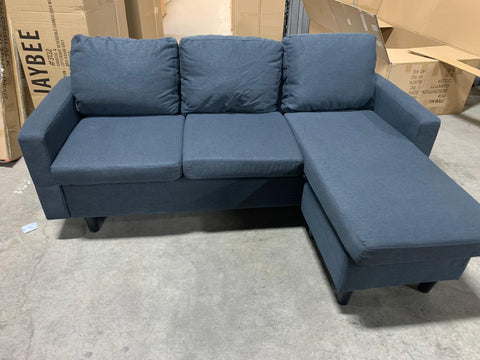 (3132 BLUE)- FABRIC- REVERSIBLE- SECTIONAL SOFA