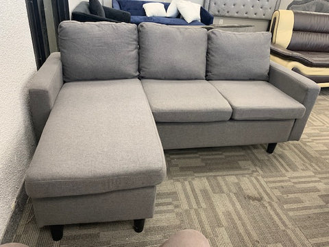 (3132 LIGHT GREY)- FABRIC- REVERSIBLE- SECTIONAL SOFA