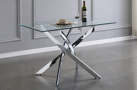 (3465- 1)- GLASS- DINING TABLE