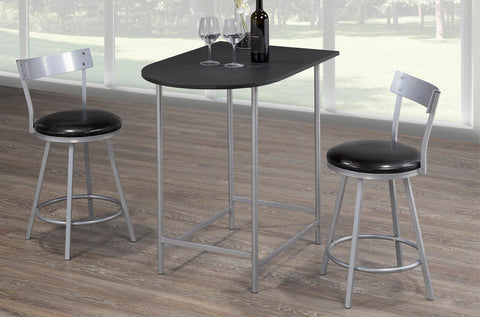 (3568- 3)- PUB TABLE- WITH 2 STOOLS