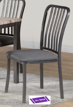 (3720- 2 PACK)- DINING CHAIRS- WITH FABRIC SEAT