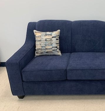 (4000 BLUE TIGHT BACK)- FABRIC- CANADIAN MADE- LOVESEAT- WITH 2 PILLOWS- (DELIVERY AFTER 1 MONTH)