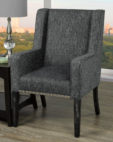420- GREY COLOR- FABRIC- ACCENT CHAIR