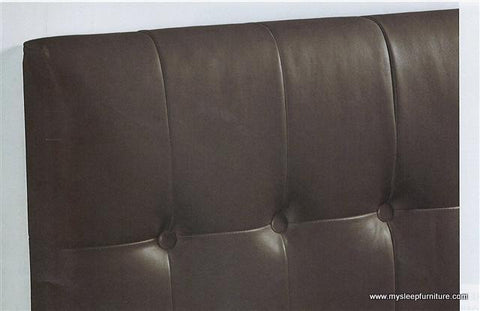 471 TUXEDO- ESPRESSO COLOR- BONDED LEATHER- HEADBOARD WITH BUTTONS- DOUBLE, QUEEN, KING SIZES