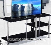 (5002 BLACK)- GLASS- TV STAND