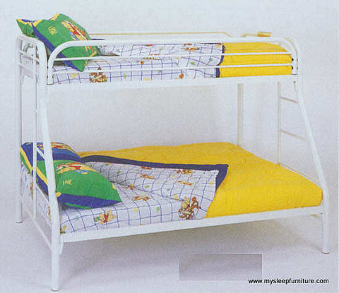 TWIN/ DOUBLE- (2820 WHITE)- METAL- BUNK BED FRAME