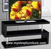 5015- GLOSSY BLACK COLOR- WOOD- TV STAND