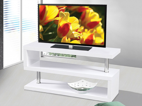 (5015 WHITE)- WOOD- TV STAND