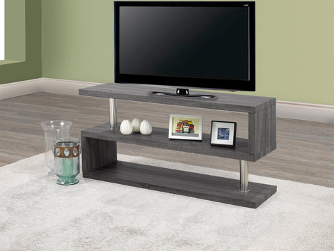 (5018 GREY)- WOOD- TV STAND
