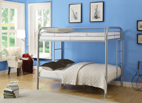DOUBLE/ DOUBLE- (502 GREY)- METAL- BUNK BED FRAME