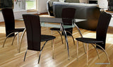 (5052- 5 pc.)- Glass- Dining table- with 4 chairs