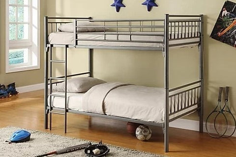 TWIN/ TWIN- (512 GREY)- METAL- SPLITTABLE- BUNK BED