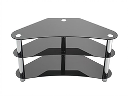 (5150 BLACK)- GLASS- TV STAND