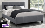TWIN (SINGLE) SIZE- (5430 DARK GREY)- FABRIC- BED FRAME- WITH SLATS