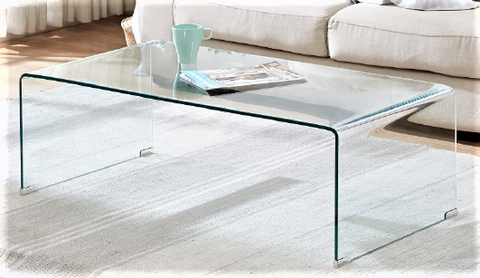 5600- BENT GLASS- COFFEE TABLE
