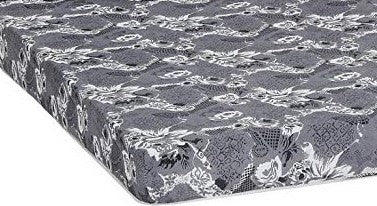 "TWIN (SINGLE) SIZE- 5"" THICK- (GREY PRINT)- FOAM MATTRESS"