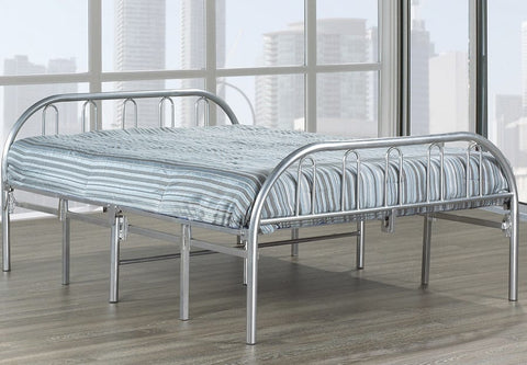 TWIN (SINGLE) SIZE- (660 SILVER)- FOLDING BED- OUT OF STOCK UNTIL MAY 1, 2020