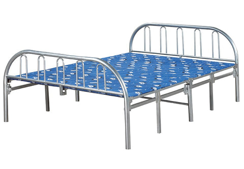 TWIN (SINGLE) SIZE- (660 SILVER)- METAL- FOLDING BED