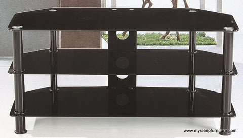 701 BLACK COLOR GLASS TV STAND