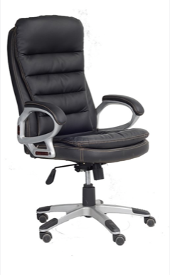 (7410 BLACK)- LEATHER- COMPUTER CHAIR- OUT OF STOCK until february 11, 2021