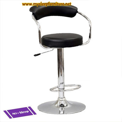 (7500 BLACK)- PU LEATHER- BAR STOOL
