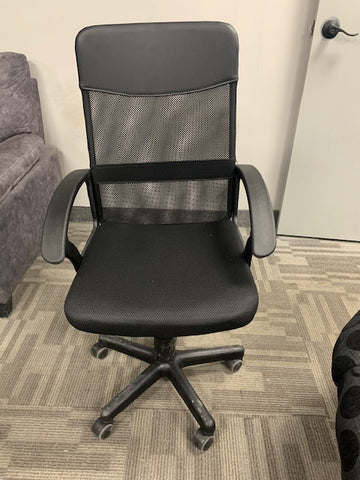 (8268 BLACK)- FABRIC- COMPUTER CHAIR