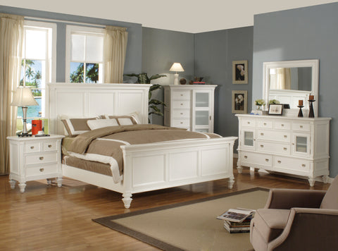 KING SIZE- ADELAIDE- WHITE COLOR- 8 PC.- BEDROOM SET
