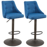 (ADYSON BLUE- 2 PACK)- FABRIC- BAR STOOL