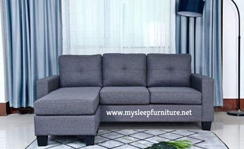 (ANNA GREY)- FABRIC- REVERSIBLE- SECTIONAL SOFA- out of stock until may 1, 2021